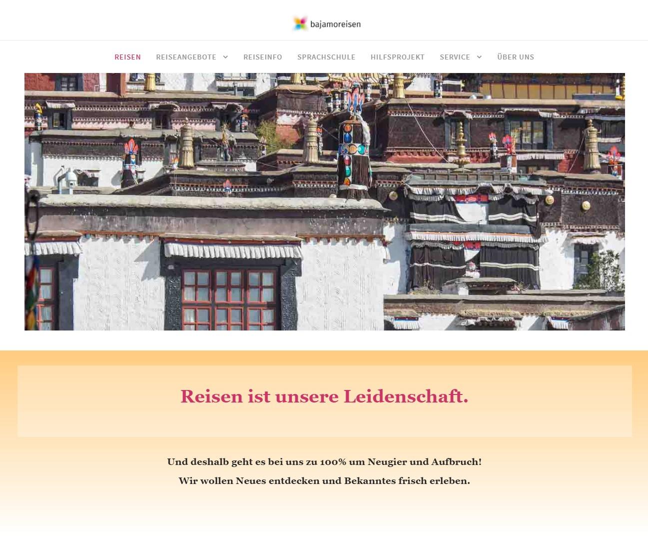 Webseite Bajamoreisen